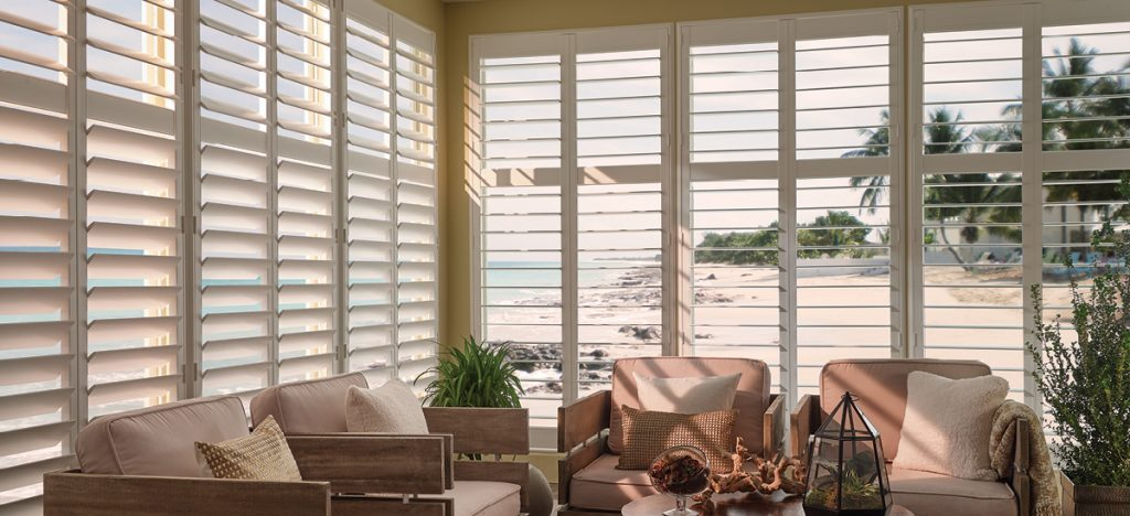 room with custom shutters
